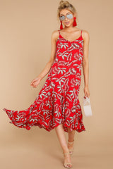 2 Take A Picture Red Palm Print Maxi Dress at reddressboutique.com