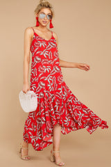 3 Take A Picture Red Palm Print Maxi Dress at reddressboutique.com