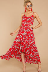 4 Take A Picture Red Palm Print Maxi Dress at reddressboutique.com