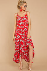 5 Take A Picture Red Palm Print Maxi Dress at reddressboutique.com
