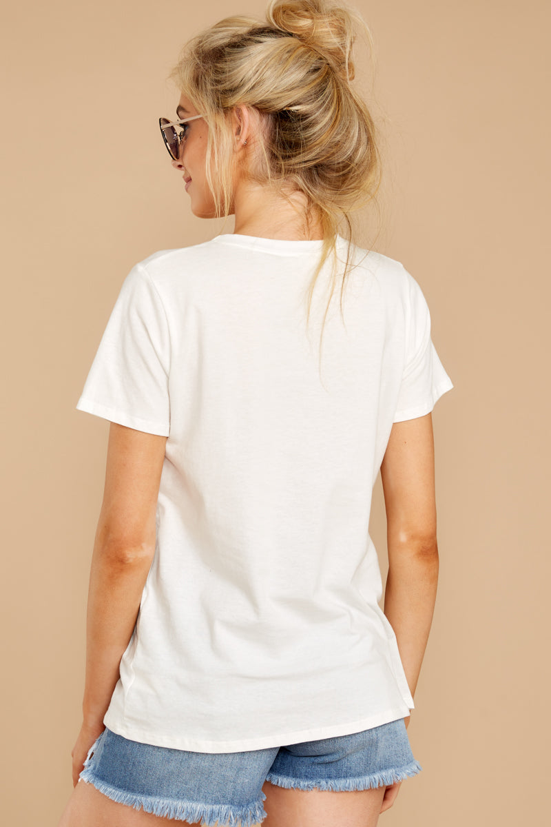 6 Good Times White Tee at reddressboutique.com