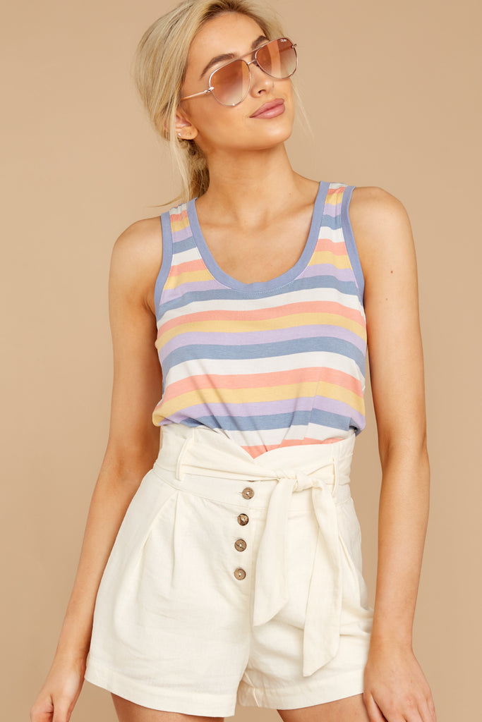 Brighten The Day Rainbow Stripe Bodysuit