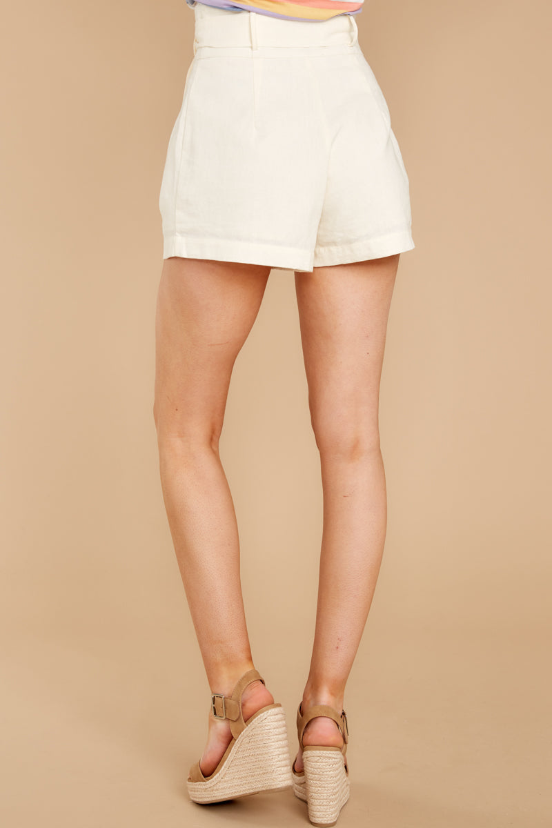 Around All The Time Ivory Shorts