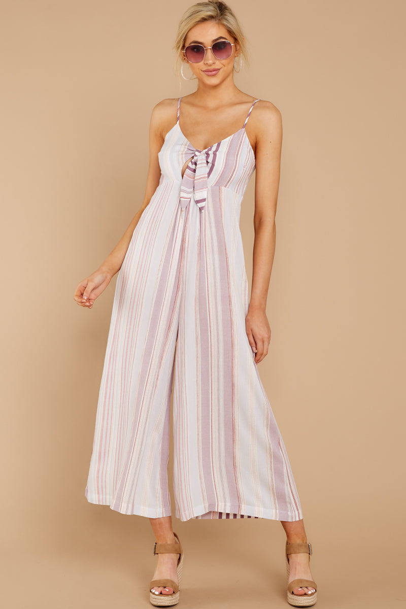2 Alone Together Orchid Multi Stripe Jumpsuit at reddressboutique.com