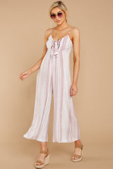 3 Alone Together Orchid Multi Stripe Jumpsuit at reddressboutique.com