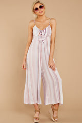 4 Alone Together Orchid Multi Stripe Jumpsuit at reddressboutique.com