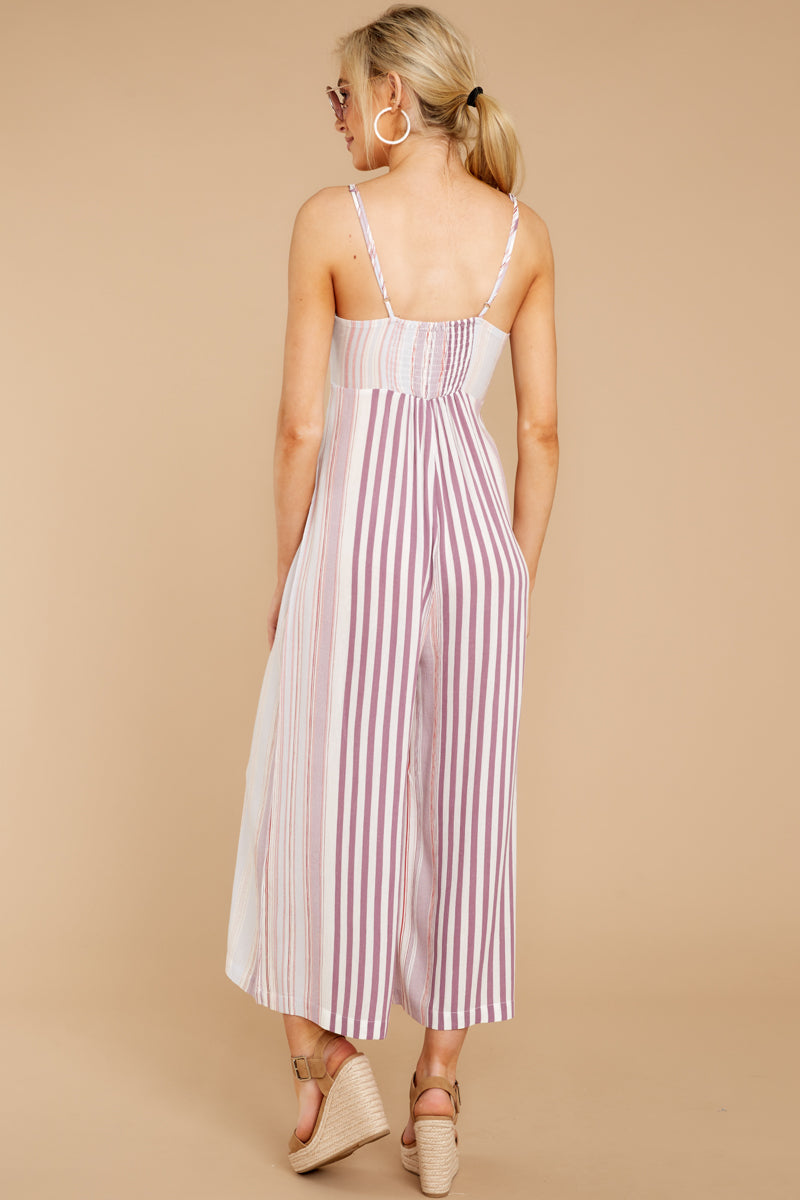 6 Alone Together Orchid Multi Stripe Jumpsuit at reddressboutique.com