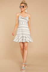 1 Happens With Time Grey Stripe Dress at reddressboutique.com