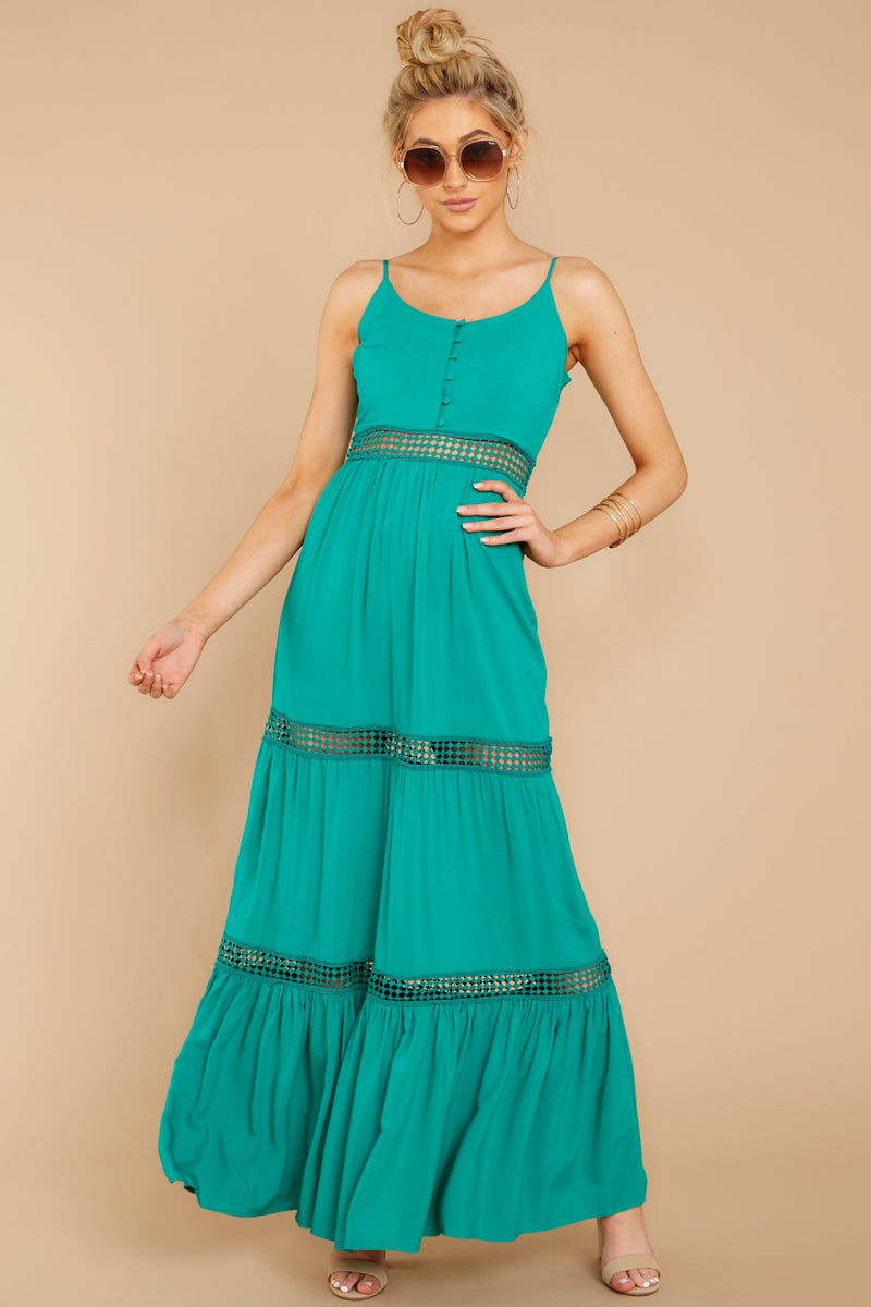 2 Where She Goes Green Maxi Dress at reddressboutique.com