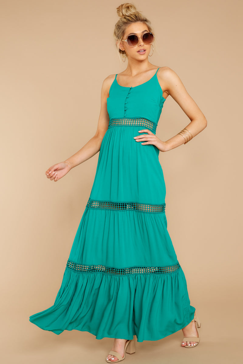 1 Where She Goes Green Maxi Dress at reddressboutique.com