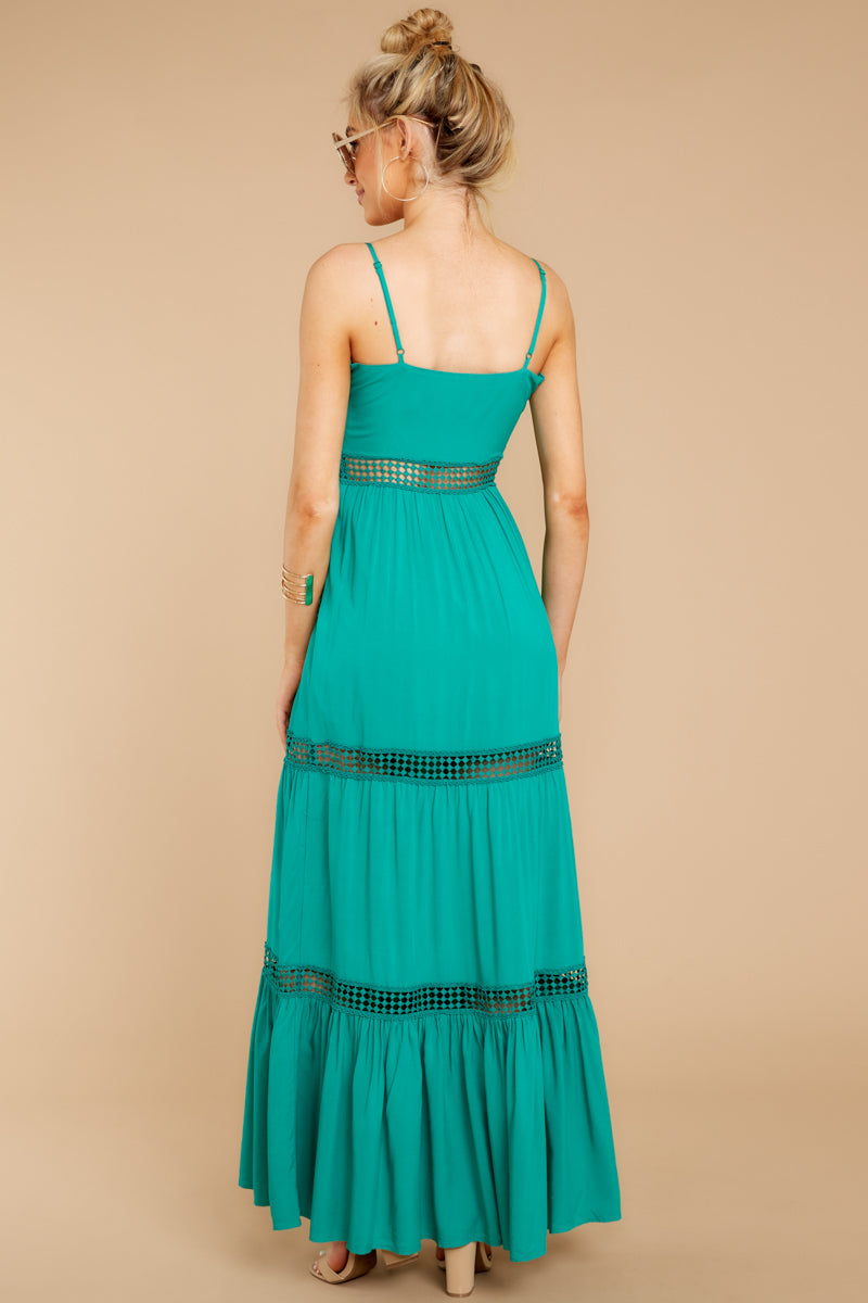 6 Where She Goes Green Maxi Dress at reddressboutique.com