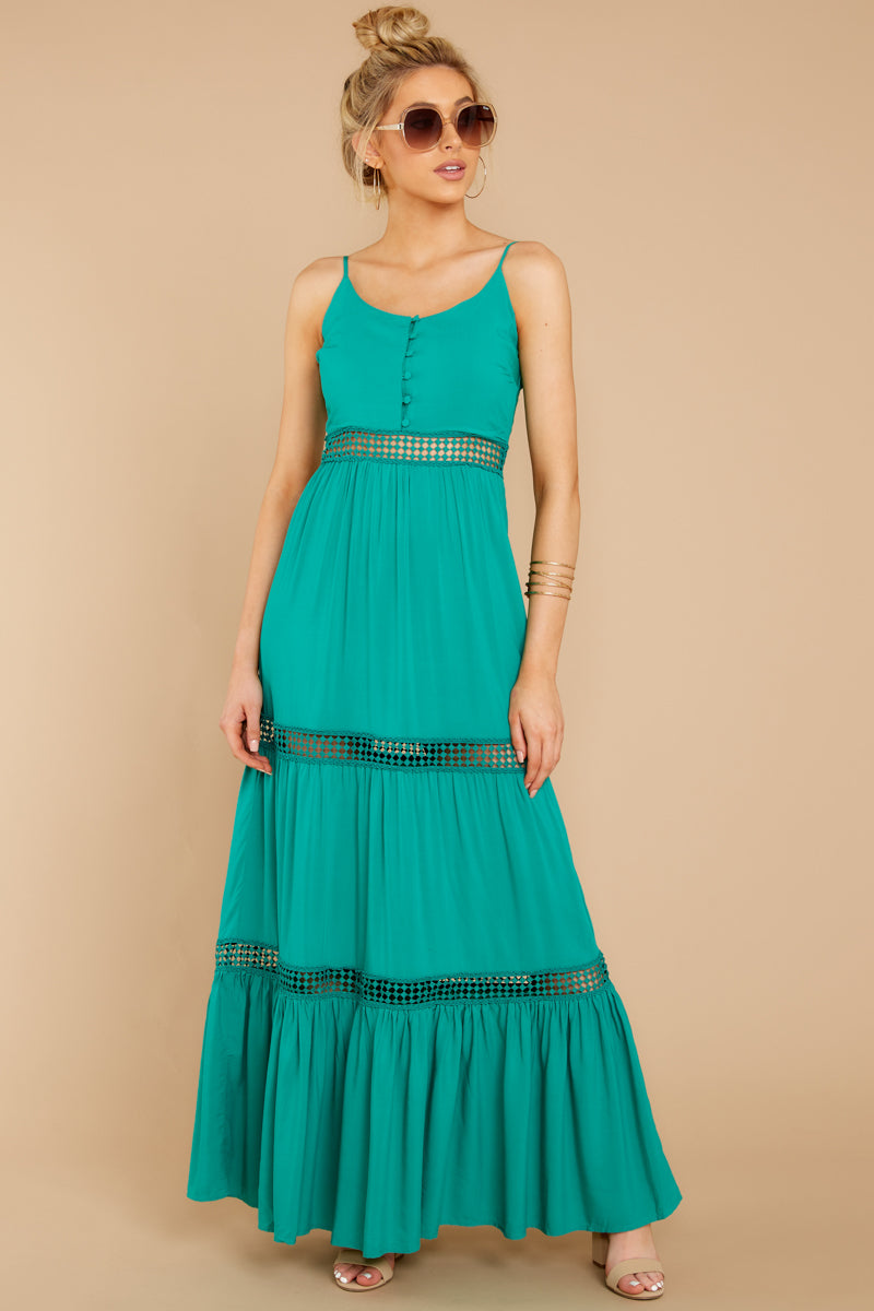 4 Where She Goes Green Maxi Dress at reddressboutique.com