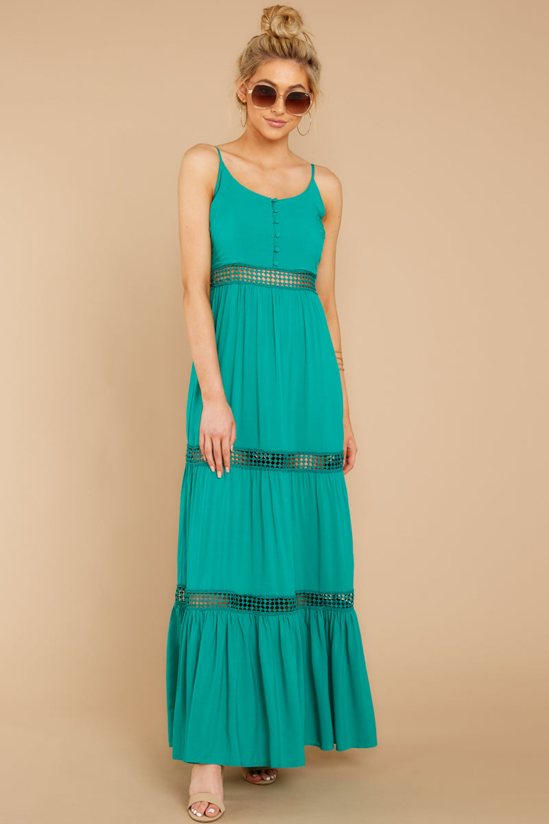 5 Where She Goes Green Maxi Dress at reddressboutique.com