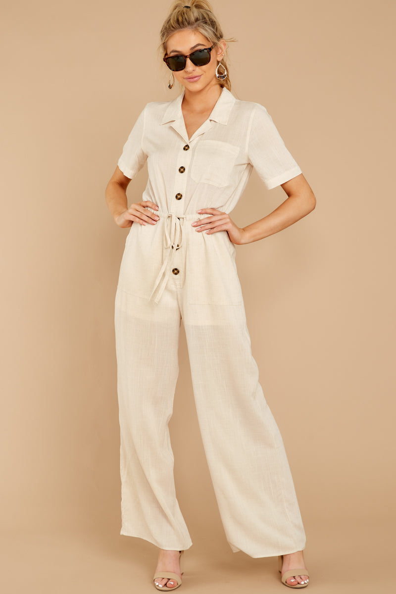 5 Ready For It Beige Jumpsuit at reddressboutique.com