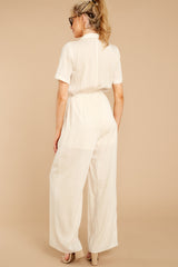 6 Ready For It Beige Jumpsuit at reddressboutique.com