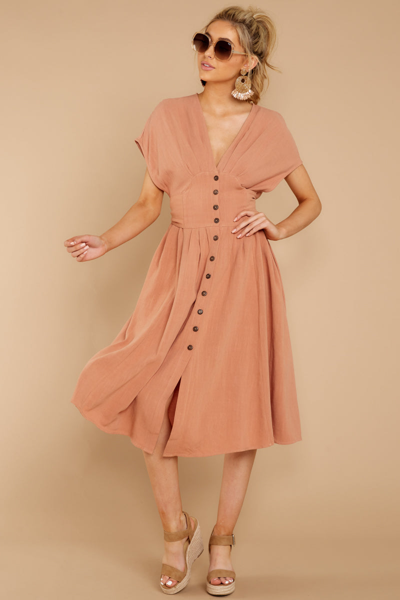 2 Well Balanced Light Clay Dress at reddressboutique.com