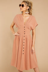4 Well Balanced Light Clay Dress at reddressboutique.com