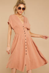 5 Well Balanced Light Clay Dress at reddressboutique.com