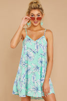 V-neck General Print Pocketed Polyester Beach Dress