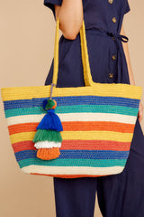 1 Carry Each Other Rainbow Stripe Bag at reddressboutique.com