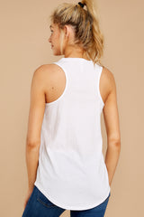 5 Pocket Racer Tank In White at reddressboutique.com