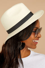 2 Filled To The Brim Ivory Hat at reddressboutique.com