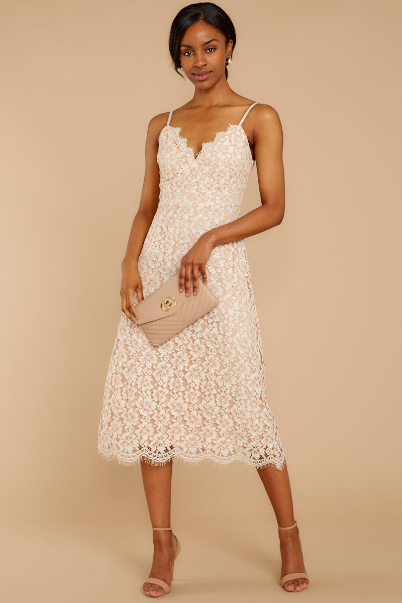 2 Smell As Sweet Cream Lace Midi Dress at reddressboutique.com
