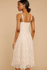 7 Smell As Sweet Cream Lace Midi Dress at reddressboutique.com