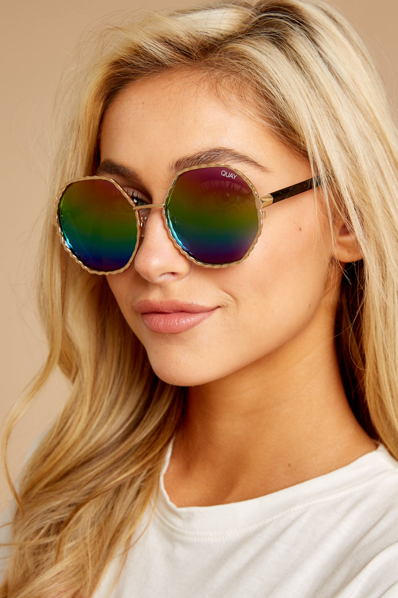 1cd4a937199a3 Quay Breeze In Sunglasses - Round Rainbow Sunnies - Glasses -  60.00 ...