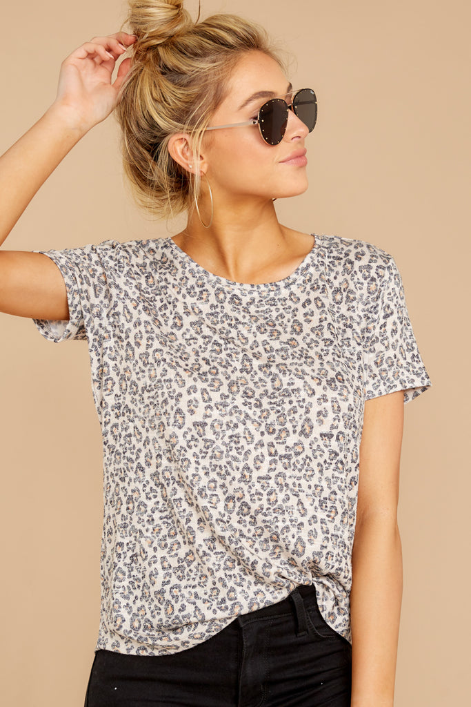 6 Ruffled Feathers Leopard Print Top at reddressboutique.com