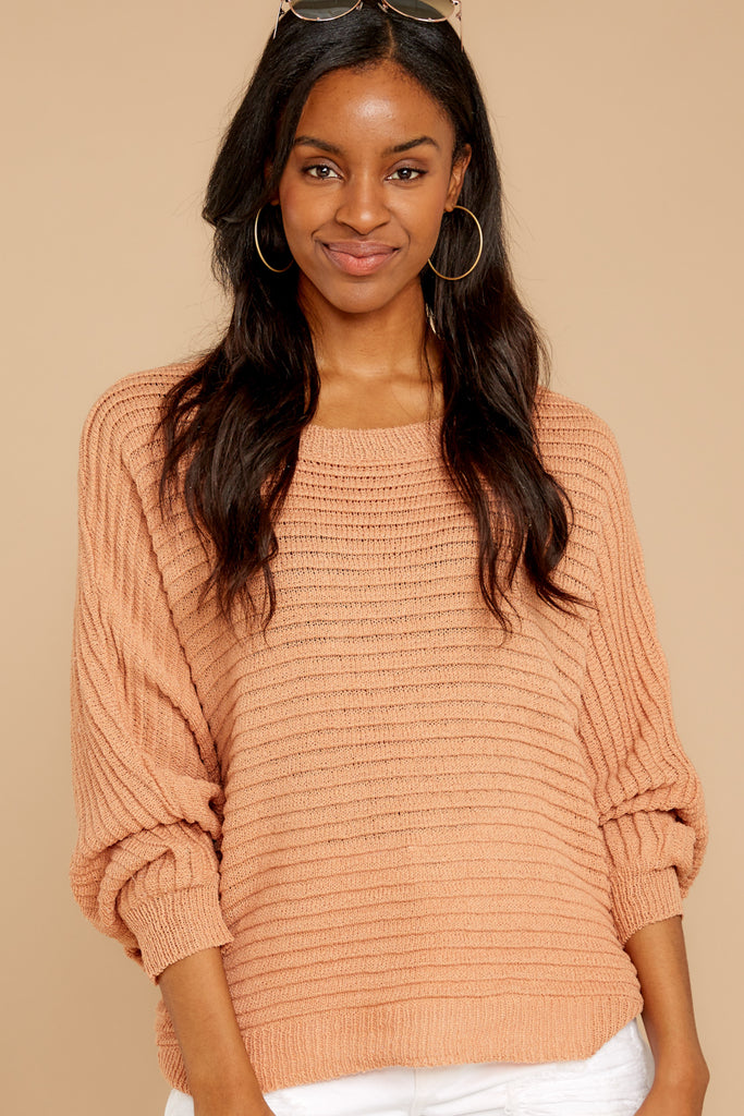 1 Through The Window Burnt Orange Sweater at reddressboutique.com