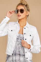 13 Framed By Love White Denim Jacket at reddress.com