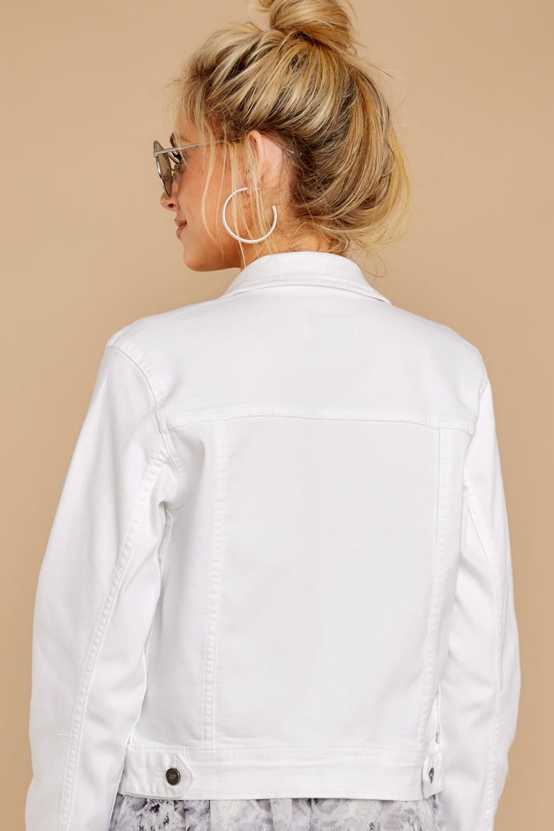 14 Framed By Love White Denim Jacket at reddress.com