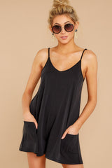 4 Every Time I Think About You Black Romper at reddressboutique.com