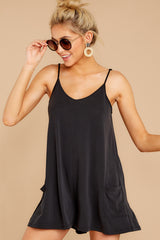 5 Every Time I Think About You Black Romper at reddressboutique.com