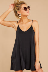 6 Every Time I Think About You Black Romper at reddressboutique.com