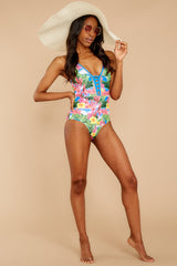 3 Whole Lotta Pina Colada Island Print One Piece at reddressboutique.com