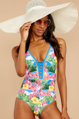 6 Whole Lotta Pina Colada Island Print One Piece at reddressboutique.com