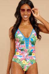 8 Whole Lotta Pina Colada Island Print One Piece at reddressboutique.com