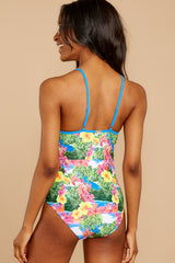 9 Whole Lotta Pina Colada Island Print One Piece at reddressboutique.com