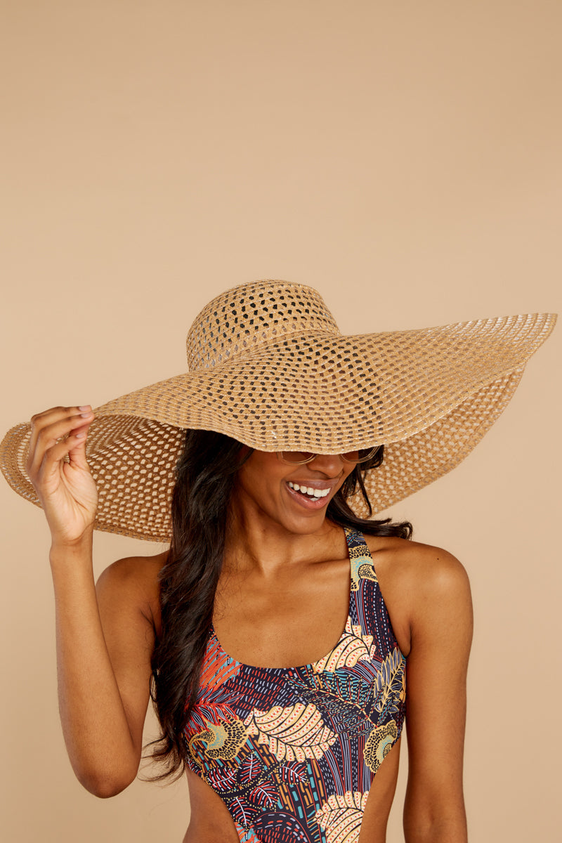 5 Hide And Seek Light Camel Wide Brimmed Hat at reddress.com