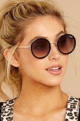 1 Firefly Black Brown Sunglasses at reddressboutique.com
