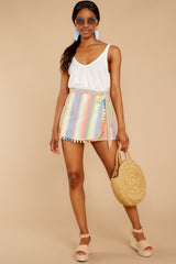 2 Belize Please Pastel Rainbow Stripe Skort at reddress.com