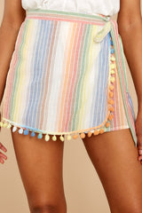 1 Belize Please Pastel Rainbow Stripe Skort at reddress.com