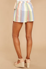 4 Belize Please Pastel Rainbow Stripe Skort at reddress.com