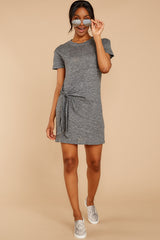 1 Ambition of Comfort Charcoal Dress at reddressboutique.com