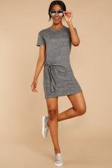 3 Ambition of Comfort Charcoal Dress at reddressboutique.com