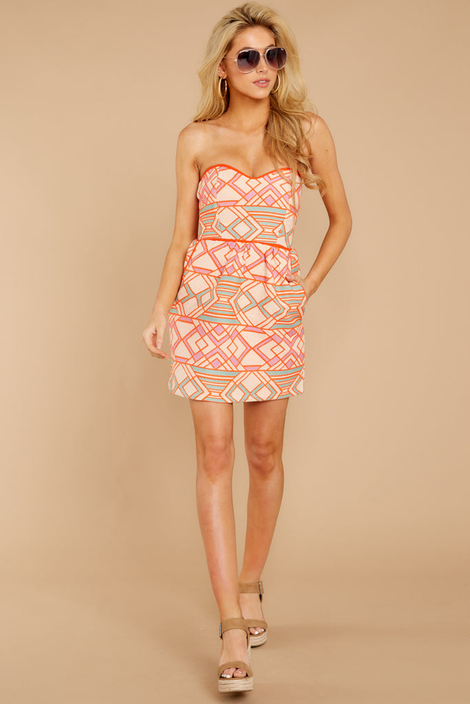 1 Party For Two Pink Multi Print Dress at reddressboutique.com