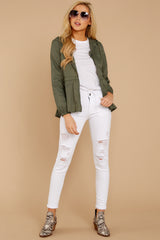 1 Dance In The Rain Heather Green Jacket at reddressboutique.com