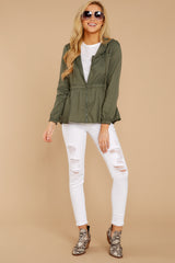 2 Dance In The Rain Heather Green Jacket at reddressboutique.com